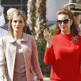 La reine Letizia Ortiz d'Espagne et la princesse Lalla Salma du Maroc visitent le Centre d'oncologie à Rabat, le 15 juillet 2014.