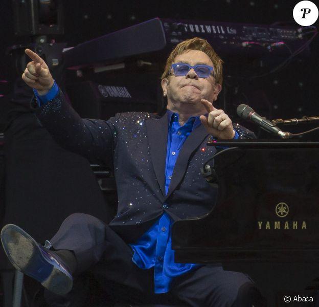 Elton John à Lancashire, le 21 juin 2014.