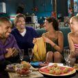 Exclusif - Camille Lacourt sur le tournage de la série Scènes de ménages, diffusée sur M6.