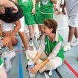 Tony Parker donnait le coup d'envoi de son camp d'entraînement le 21 juillet 2014 sur le campus de La Doua à Villeurbanne, en présence de la ministre des Sports Najat Vallaud-Belkacem qu'il a affronté lors d'un petit match