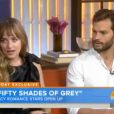 Interview de Dakota Johnson et Jamie Dornan au Today Show sur NBC le 24 juillet 2014.