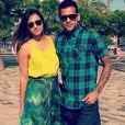 Dani Alves et son ex-compagne Thaissa Carvalho