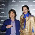 Mick Jagger et L'Wren Scott à Londres, le 14 septembre 2013.