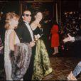 Jack Nicholson et Anjelica Huston lors des Oscars 1984