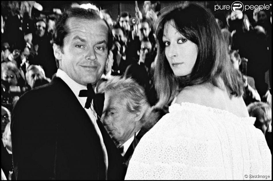 Jack Nicholson et Angelica Huston lors du Festival de Cannes 1974