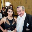 Kim Kardashian et Richard Lugner assistent à l'Opera Ball à Vienne. Le 27 février 2014.