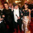 Kris Jenner, Richard Lugner et Kim Kardashian au bal de l'Opéra de Vienne. Le 27 février 2014.