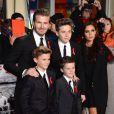 La famille Beckham (sans Harper) à Londres. Décembre 2013.