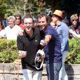 Thierry Beccaro et Bernard Montiel - 7e édition du Star West Pétanque au parc Mauresque à Arcachon le 3 août 2014.