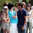 Liane Foly et Bernard Montiel - 7e édition du Star West Pétanque au parc Mauresque à Arcachon le 3 août 2014.