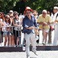Charles Berling - 7e édition du Star West Pétanque au parc Mauresque à Arcachon le 3 août 2014.