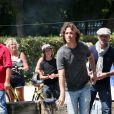 Richard Orlinski - 7e édition du Star West Pétanque au parc Mauresque à Arcachon le 3 août 2014.