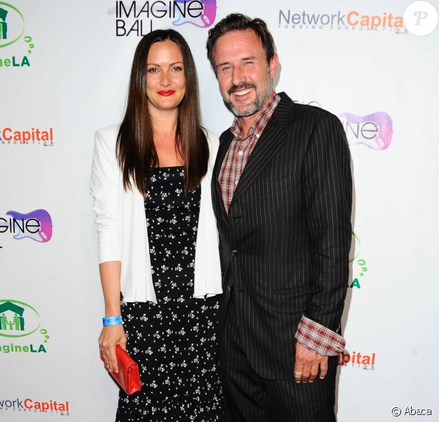 David Arquette et Christina McLarty lors de la soirée Imagine Ball LA Benefit Concert organisée au House of Blues de West Hollywood, le 6 août 2014.