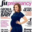 Alyssa Milano en couverture de Fit Pregnancy.