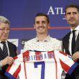 Antoine Griezmann a été présenté comme nouvelle recrue de l'Atletico Madrid le 31 juillet 2014 au stade Vicente Calderon