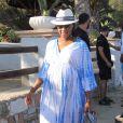 Savannah Brinson, enceinte de son troisième enfant, profite de vacances à Mykonos avec son mari LeBron James. Le 15 août 2014.