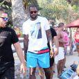 Le basketteur LeBron James en vacances à Mykonos, le 15 août 2014.