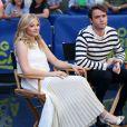 """Chloë Grace Moretz et Jamie Blackley font la promotion de leur nouveau film """"Si je reste"""" sur le plateau de l'émission TV """"Good Morning America"""" à New York le 18 août 2014"""