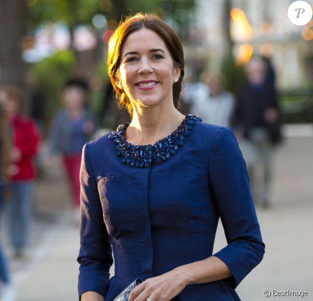 La princesse Mary de Danemark assistait à la dernière date de la tournée européenne de l'Orchestre symphonique de Melbourne, le 25 août 2014 à la salle de concert de Tivoli, à Copenhague.
