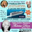 Affiche promo de la croisière MSC avec la famille de Céline Dion