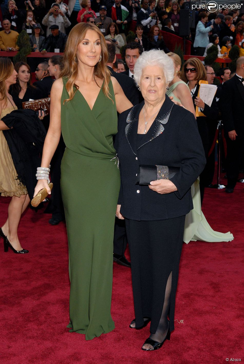 Céline Dion et sa mère Thérèse Dion à la 79é cérémonie des Oscars, le 25 février 2007.