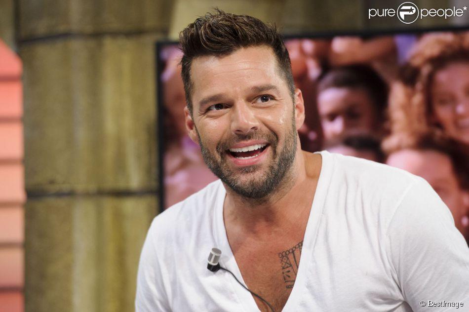 """Ricky Martin participe à l'émission de télévision """"El Hormiguero"""" à Madrid, le 9 juin 2014."""