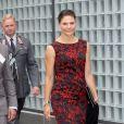 La princesse Victoria de Suède assiste à un séminaire de la WWF sur les océans à l'ambassade de Finlande à Stockholm, le 27 août 2014.