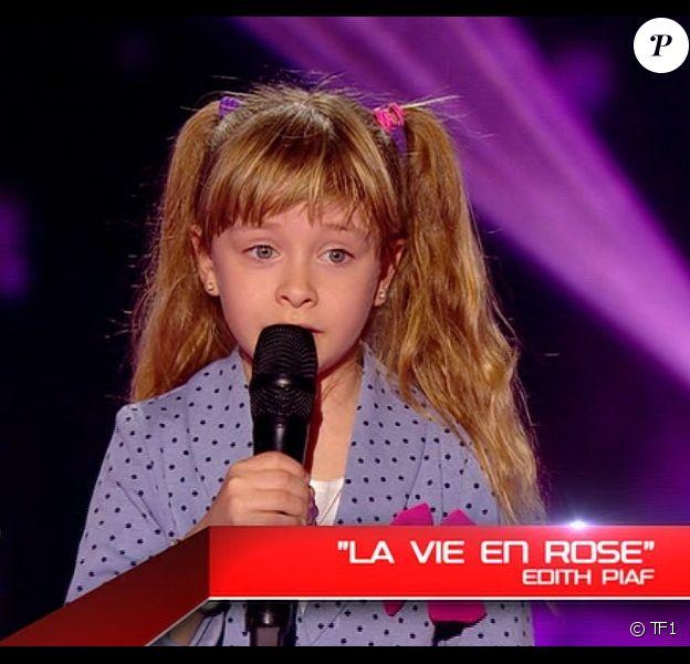 Gloria dans The Voice Kids sur TF1. Episode 1 diffusé le samedi 23 août 2014 sur TF1.