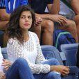 La belle Noura, la compagne de Jo-Wilfried Tsonga, lors du match de celui-ci à l'US Open, le 30 août 2014 à l'USTA Billie Jean King National Tennis Center