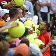 Jo-Wilfried Tsonga lors de son troisième tour de l'US Open face à Pablo Carreno Busta à l'USTA Billie Jean King National Tennis Center de New York le 30 août 2014