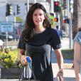 Courteney Cox va déjeuner au restaurant avec une amie à West Hollywood, le 28 août 2014.