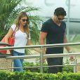 Exclusif - Sofia Vergara et son petit-ami Joe Manganiello vont prendre un vol à l'aéroport de Cabo San Lucas après avoir passé des vacances en amoureux, le 1er septembre 2014.