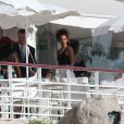 Rihanna dîner au restaurant de l'hôtel du Cap-Eden-Roc à Antibes, le 3 septembre 2014.