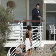 En vacances en Méditerranée à bord du yacht Galaxy, Rihanna est allée dîner au restaurant de l'hôtel du Cap-Eden-Roc à Antibes. Le 3 septembre 2014.