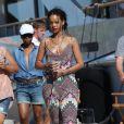Exclusif - Rihanna, en vacances en Corse, se promène à Calvi. Le 1er septembre 2014.