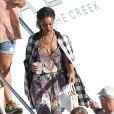 Exclusif - Rihanna part pour une balade en quad avec ses amis. Calvi, le 1er septembre 2014.
