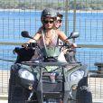 Exclusif - Rihanna fait du quad avec des amis à Calvi en Corse, le 1er septembre 2014.01/09/2014 - Calvi