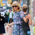 Taylor Swift à la sortie de son cours de gym à New York, le 12 août 2014.