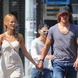Carles Puyol et sa ravissante compagne Vanesa Lorenzo à New York le 6 septembre 2014.