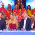 Jean-Luc Lemoine, Enora Malagré, Gilles Verdez et Christophe Carrière dans Touche pas à mon poste, le mardi 16 septembre 2014.