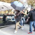 Beyoncé, Jay Z et leur fille Blue Ivy sont allés déjeuner au restaurant italien NoLita, dans le 8e arrondissement. Paris, le 14 septembre 2014.