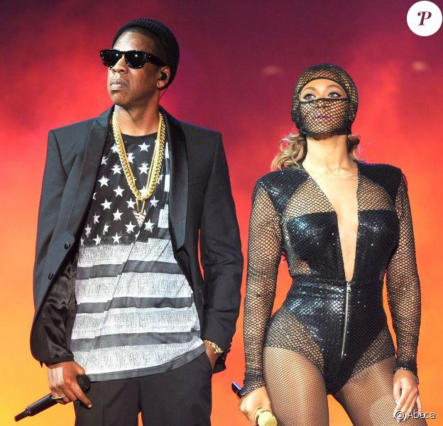 Jay Z et Beyoncé en concert au Metlife Stadium, à East Rutherford. Le 11 juillet 2014.