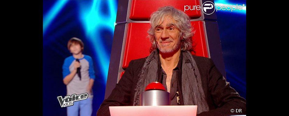 LOuis Bertignac et Hugo dans The Voice Kids, le 30 août 2014 sur TF1.