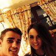 Erika Choperena avec Antoine Griezmann le 21 mars 2014 pour son anniversaire.