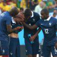 Antoine Griezmann ne peut retenir ses larmes lors de la défaite de l'équipe de France face à l'Allemagne en 1/4 de finale de la Coupe du monde, à Rio le 4 juillet 2014