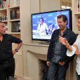 Exclusif - Thomas Sotto - Nikos Aliagas présente son exposition photos dans les locaux d'Europe 1 à l'occasion des journées du Patrimoine à Paris, le 21 septembre 2014.