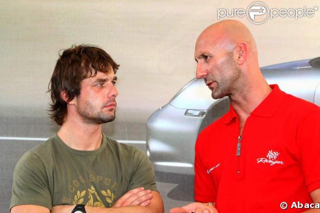 Fabien Barthez avec Sebastien Loeb à Albi pour le Grand Prix Automobile