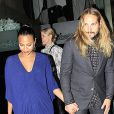 Exclusive - Zoe Saldana et son mari Marco Perego à Beverly Hills, Los Angeles, le 28 septembre 2014.