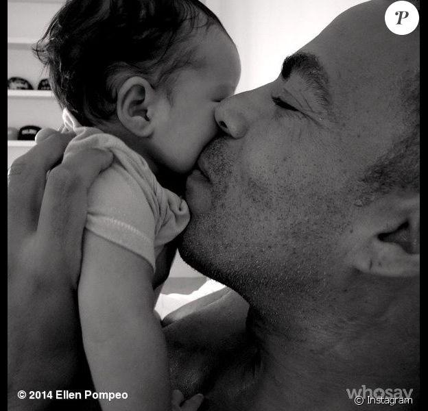 Chris Ivery et la petite  Sienna May, sur Instagram le 2 octobre 2014