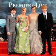Daniel Radcliffe, JK Rowling, Emma Watson et Rupert Grint à New York le 11 juillet 2011.